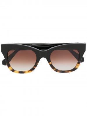 Двухцветные солнцезащитные очки Matsuda. Цвет: черный