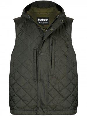 Жилет с капюшоном Barbour X Engineered Garments. Цвет: зеленый