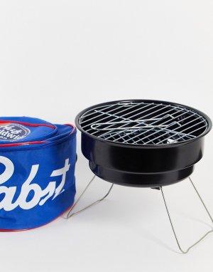 Переносное барбекю/гриль в сумке с отделением для охлаждения пива x Pabst Blue Ribbon-Темно-синий HUF