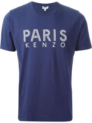 Футболки и жилеты Kenzo. Цвет: синий