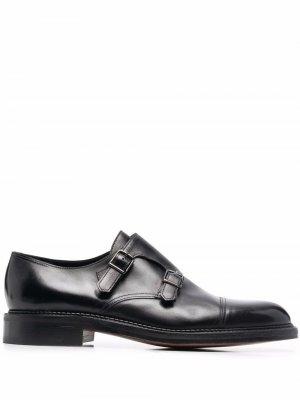 William leather monk shoes John Lobb. Цвет: черный