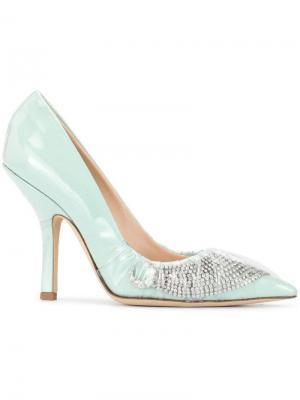 Туфли-лодочки с заостренным носком и декором Midnight 00. Цвет: синий