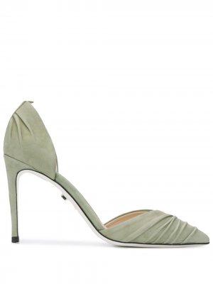 Туфли со сборками Grey Mer. Цвет: зеленый