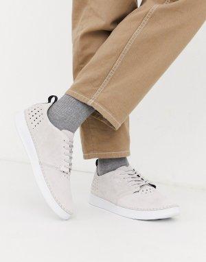 Светло-серые замшевые кроссовки -Серый Boxfresh