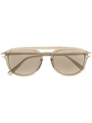 Солнцезащитные очки BR0058S Brioni. Цвет: серый