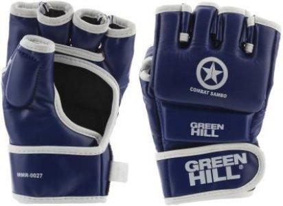 Перчатки Combat Sambo, размер 14 Green Hill. Цвет: синий