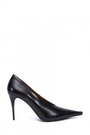 Черные кожаные туфли Acne Studios. Цвет: черный