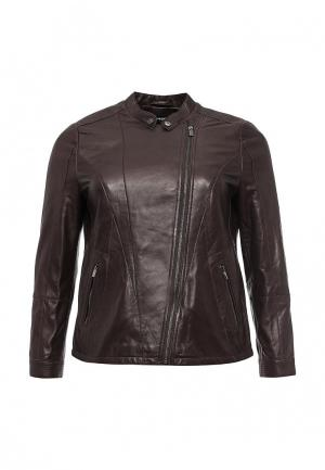 Куртка кожаная Samoon by Gerry Weber SA037EWLDK29. Цвет: коричневый