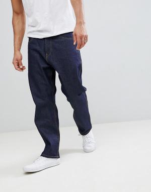Синие прямые брюки классического кроя Toledo Carhartt WIP. Цвет: синий