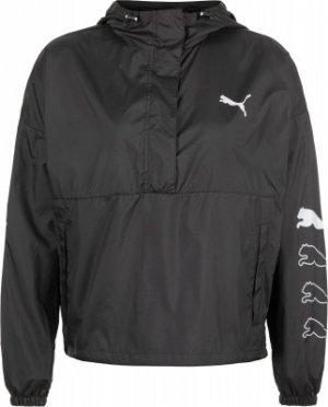 Ветровка женская 1/2 Zip, размер 46-48 Puma. Цвет: черный