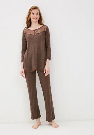 Пижама Laete. Цвет: коричневый