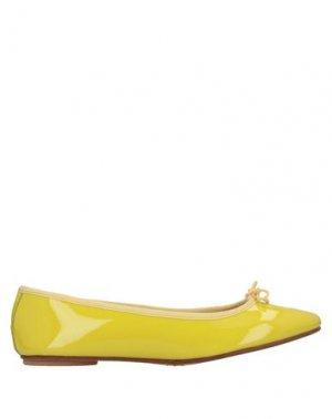 Балетки BAGLLERINA. Цвет: желтый