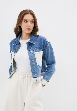 Куртка джинсовая Befree Exclusive online. Цвет: синий