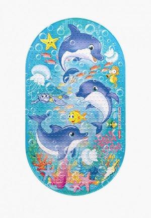 Коврик для ванной Valiant KIDS, 69х39 см. Цвет: голубой