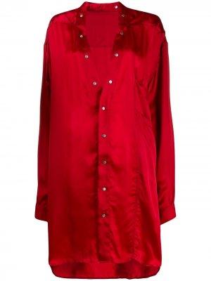 Рубашка-туника Rick Owens. Цвет: красный