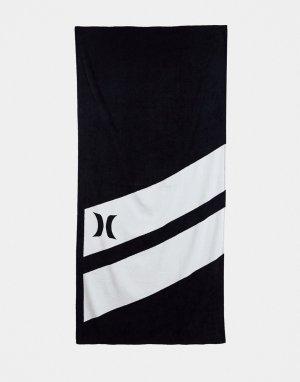 Черное пляжное полотенце -Черный цвет Hurley