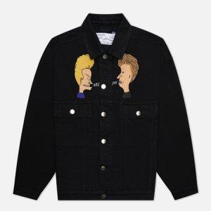 Мужская джинсовая куртка x Beavis & Butt-Head Vertige Etudes. Цвет: чёрный