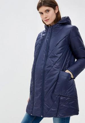 Куртка утепленная Очаровательная Адель. Цвет: синий