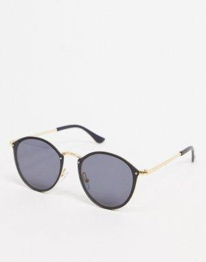 Круглые солнцезащитные очки -Коричневый цвет SVNX