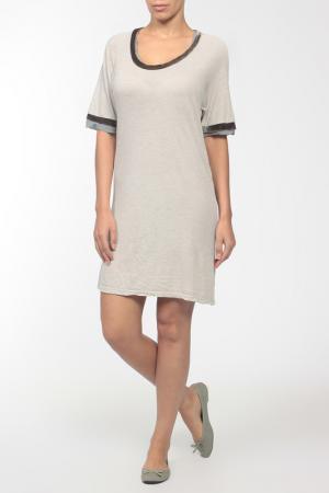Платье джерси Clu. Цвет: серый