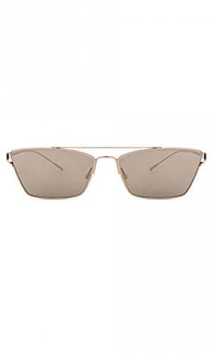 Солнцезащитные очки evey Oliver Peoples. Цвет: металлический золотой