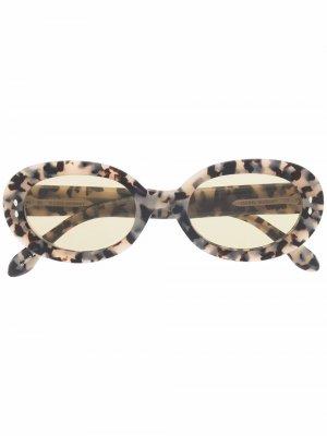 Солнцезащитные очки в круглой оправе черепаховой расцветки Isabel Marant Eyewear. Цвет: нейтральные цвета