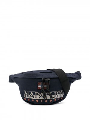 Поясная сумка с логотипом Napapijri. Цвет: синий