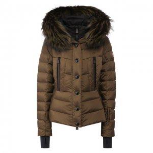 Пуховая куртка Moncler Grenoble. Цвет: хаки