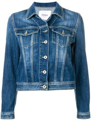 Классическая джинсовая куртка Dondup. Цвет: синий