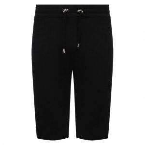 Хлопковые шорты Balmain. Цвет: чёрный