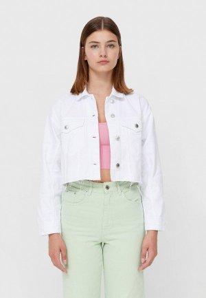Куртка джинсовая Stradivarius. Цвет: белый