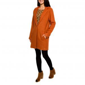 Пальто с V-образным вырезом PARAMITA. Цвет: красно-коричневый