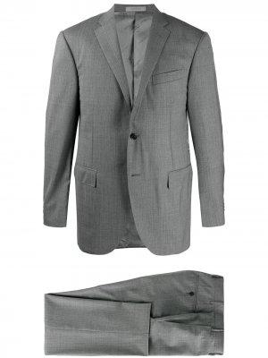 Строгий костюм-двойка Corneliani. Цвет: серый