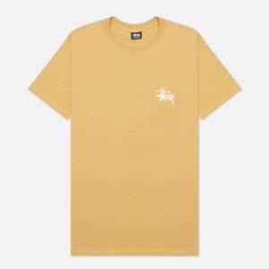 Мужская футболка SS Basic Stussy. Цвет: коричневый