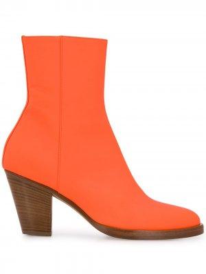 Ботильоны на каблуке A.F.Vandevorst. Цвет: оранжевый