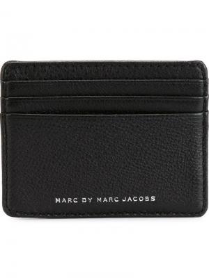 Визитница с логотипом Marc By Jacobs. Цвет: чёрный