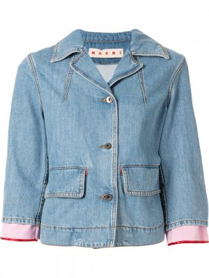 Укороченная джинсовая куртка на пуговицах Marni