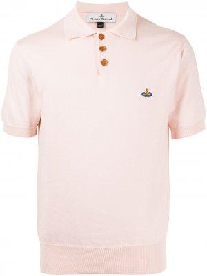 Рубашка поло с вышитым логотипом Vivienne Westwood. Цвет: розовый