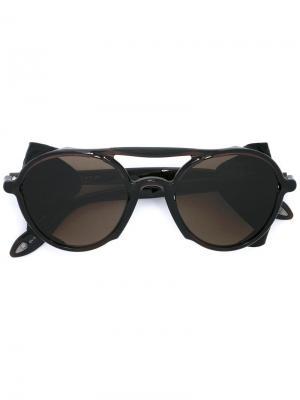 Солнцезащитные очки с оправой авиатор Givenchy. Цвет: коричневый