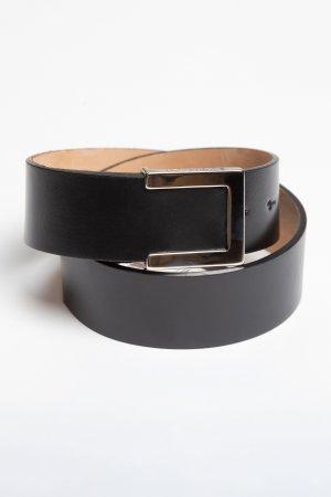 Кожаный ремень с металлической пряжкой VASSA&Co. Цвет: черный