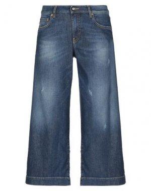 Джинсовые брюки-капри BLAUER. Цвет: синий