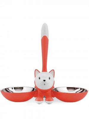 Миска для кошки Tigrito Alessi. Цвет: оранжевый