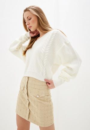 Пуловер Dorothy Perkins. Цвет: белый