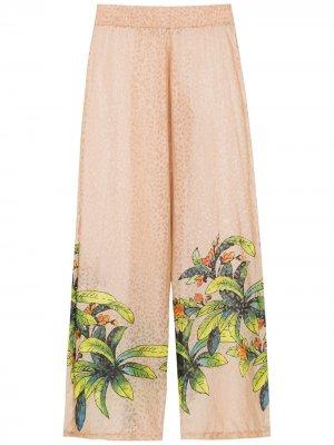 Silk printed trousers Amir Slama. Цвет: нейтральные цвета