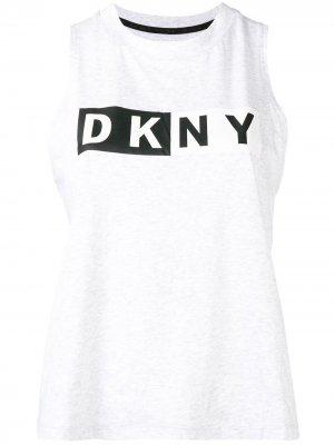 Logo tank top DKNY. Цвет: серый