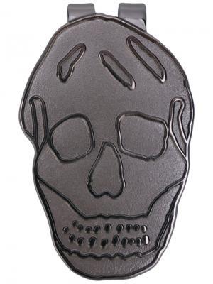 Зажим для купюр в виде черепа Alexander McQueen. Цвет: металлический