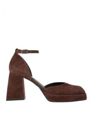 Туфли GIAMPAOLO VIOZZI. Цвет: коричневый