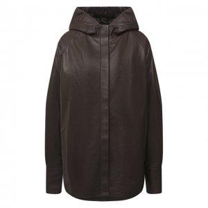 Кожаная куртка DROMe. Цвет: коричневый