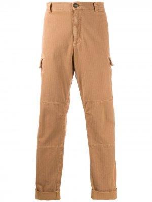 Классические брюки чинос Brunello Cucinelli. Цвет: коричневый