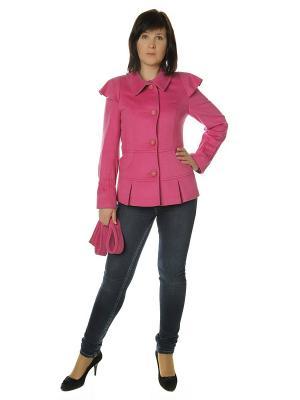 Полупальто AURORA. Цвет: розовый